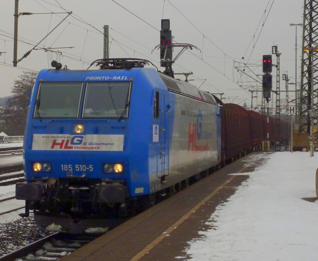 185 510 der Pronto rail/HLG Bebra am 14.01.10 in Fulda