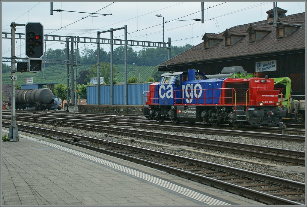 SBB Am 843 060-5 in Spiez.