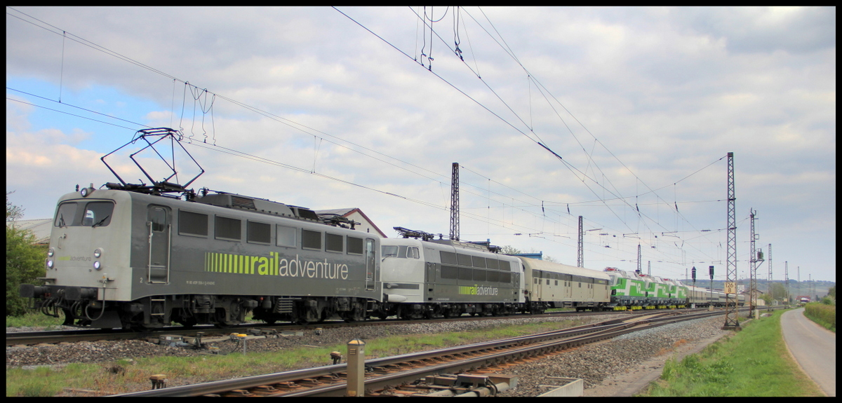 193 558 und 103 222 mit 3 Finnen Vectrons am 14.04.17 in Wintershausen