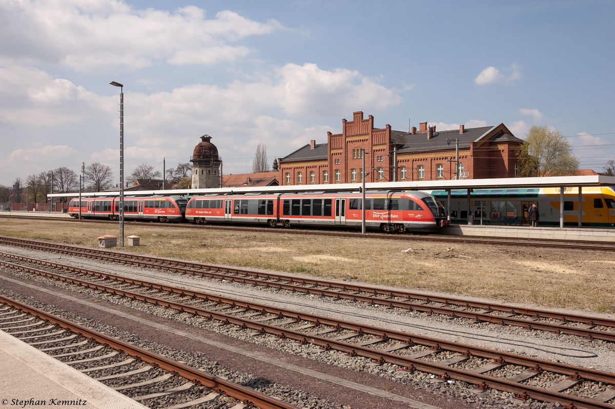 642 668-7 & 642 666-1 als RB34 (RB 27854) von Rathenow nach Stendal in Rathenow. 19.04.2015