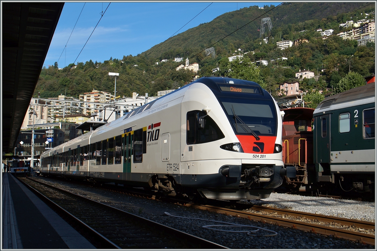 Der TiLo Flirt 524 201 in Locarno.