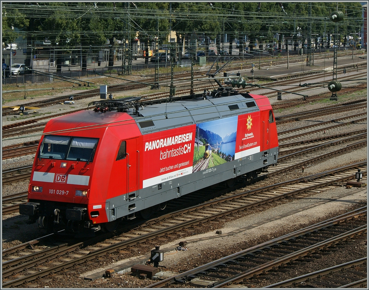 Die DB 101 029-7 in Singen.