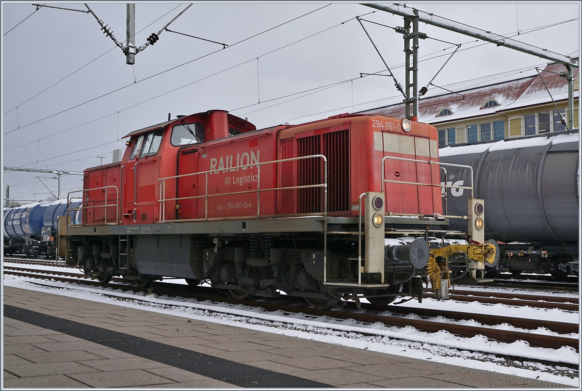 Die DB 294 861-0 in Singen.