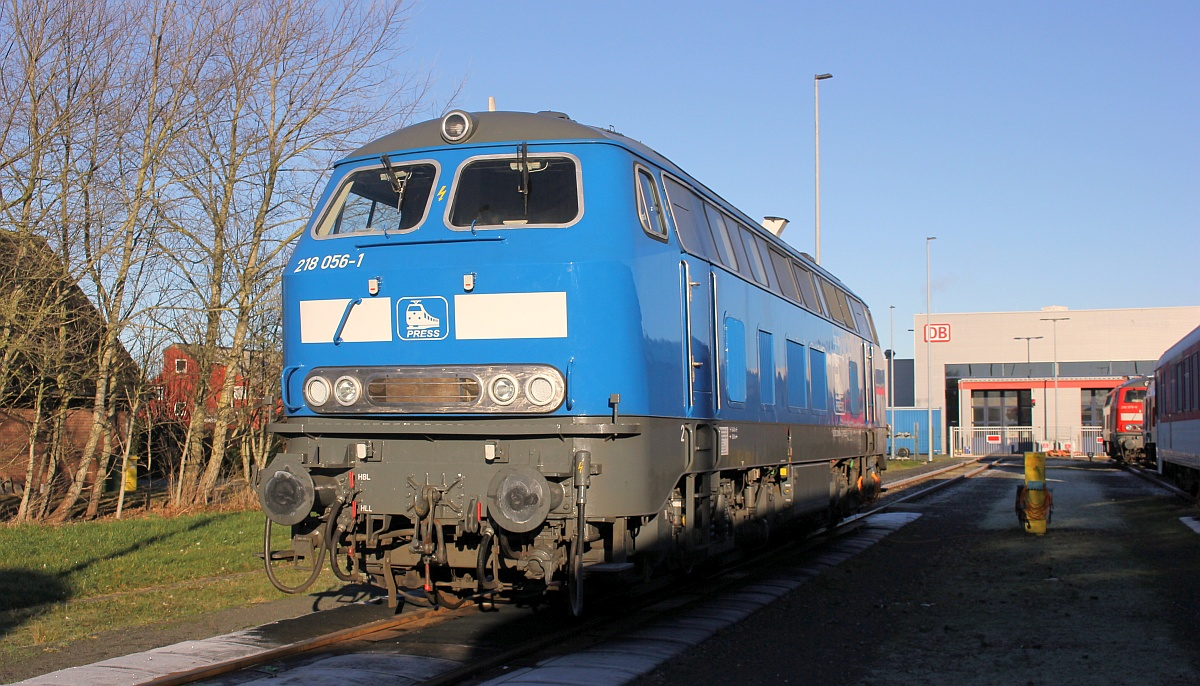 PRESS 218 056-1 oder 92 80 1218 454-7 D-PRESS, REV/LS X/27.07.2020, Bw Niebüll 25.12.2020
