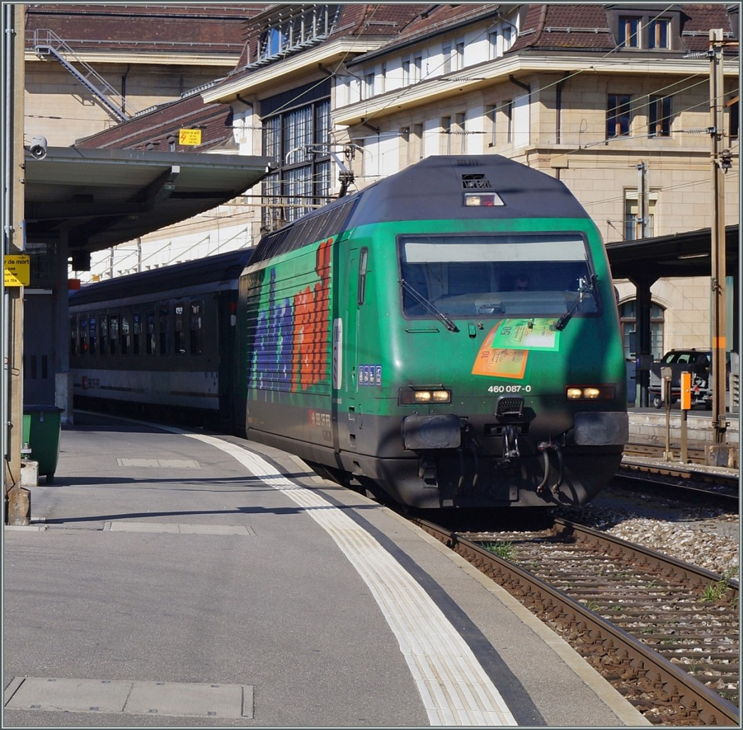 SBB Re 460 087-0  Rekarail  in Lausanne.