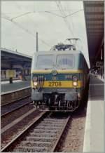 serie-21-27/148311/die-sncb-nmbs-2708-in-bruxelles Die SNCB NMBS 2708 in Bruxelles Nord.  (Sommer 1985/Gescanntes Negativ)