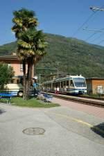 2010/71455/ein-fart-regionalzug-beim-halt-in Ein FART Regionalzug beim Halt in Intragna am 23. September 2009.