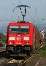 br-185-traxxf140ac2/157779/eine-lok-die-eigentlich-in-diesen Eine Lok, die eigentlich in diesen südlichen Gefilden nix zu suchen hat...185 402 (Railion Scandinavia) mit gemischten Güterzug in Richtung Süden am 01.09.11 in Kaub