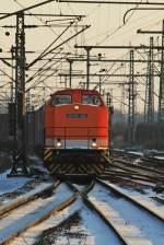 br-201-204-v100-ost/108762/locon-209-98-80-3201-878-6 LOCON 209 (98 80 3201 878-6 D-LOCON) mit einem Containerzug am 04.12.10 in Hamburg Harburg