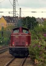 br-211-213-v100-west-auch-0212-v90p/107073/bobs-v126-alias-92-80-1212 BOB's V126 alias '92 80 1212 089-7 D-BOBy' fuhr solo am 3.8 durch den Münchener Heimeranplatz.