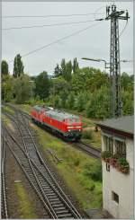 br-218-v-164/164006/zwei-dieselloks-der-baureihe-218-in Zwei Dieselloks der Baureihe 218 in Lindau.  18.09.2011