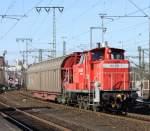 br-260-261360-365-v60-west/119630/363-219-7-mit-gueterwagen-gen-gbf 363 219-7 mit Güterwagen gen GBf am 08.02.11 in Fulda