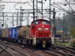 br-290-296-v90/66184/295-018-6-dieselte-mit-einem-gemischten 295 018-6 dieselte mit einem gemischten GZ durch Hamburg-Harburg am 24.4