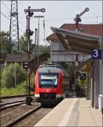 br-0648-alstom-lhb-coradia-lint-41/148633/648-203-fuhr-als-rb-93 648 203 fuhr als RB 93 nach Bad Berleburg (RB 29281) außerplanmäßig am 04.07. in Kreuztal über Gleis 3, da auf Gleis 1 noch ein Abellio auf Weiterfahrt in Richtung Hagen wartete.