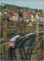 br-0650-stadler-regio-shuttle-rs1/106586/der-650-116-und-ein-weiterer Der 650 116 und ein weiterer, unbekannter 650 von (und nach) Crailsheim erreichen Ulm.  14.11.2010