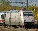br-6101-adtranz/99964/101-034-7-mit-ic-2871-am 101 034-7 mit IC 2871 am 21.10.10 in Fulda