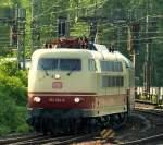 br-6103-e03/140159/103-184-8-fuhr-mit-dem-tee 103 184-8 fuhr mit dem TEE nach Köln Hbf am 7.5.11 in den Hamburger Hbf ein.