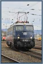 br-6110-e10/87842/110-348-waehrend-der-lokparade-am 110 348 während der Lokparade am 03.04.10 in Koblenz Lützel