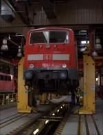 BR 6111/289035/111-145-aufgebockt-am-240813-im 111 145 aufgebockt am 24.08.13 im Dortmunder Regio Werk