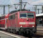 111 095 mit RE nach Frankfurt am 14.08.10 in Fulda