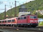 BR 6111/92657/111-178-0-mit-re-nach-wuerzburg 111 178-0 mit RE nach Würzburg am 05.09.10 in Gemünden am Main