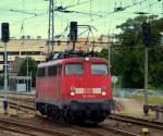br-6115-db-fernverkehr/133013/115-509-2-schlich-aus-dem-stralsunder 115 509-2 schlich aus dem Stralsunder Bahnhof.