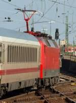 BR 6120/133474/120-119-2-stellte-den-ic-2401 120 119-2 stellte den IC 2401 nach Köln bereit. Besonders viel mir der rote Stromabnehmer auf.