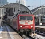BR 6120/50863/120-149-am-050110-in-frankfurt 120 149 am 05.01.10 in Frankfurt mit einem Ersatzzug