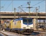 br-6146-traxx-f-p140-160-ac1-2/107624/me-146-09-fuhr-als-metronom-nach ME 146-09 fuhr als Metronom nach Bremen am 4.12 aus dem Harburger Bahnhof.
