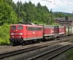 BR 6151/78066/151-066-8-mit-gueterzug-am-180610 151 066-8 mit Güterzug am 18.06.10 in Jossa
