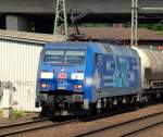 br-6152-es-64-f/122717/152-138-4-fuhr-mit-einem-getreide-zug 152 138-4 fuhr mit einem Getreide-Zug durch Hamburg-Harburg am 15.7.