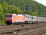 br-6152-es-64-f/92668/152-132-7-mit-gueterzug-am-050910 152 132-7 mit Güterzug am 05.09.10 in Gemünden am Main