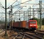 br-6152-es-64-f/92984/152-125-1-mit-einem-gueterzug-in 152 125-1 mit einem Güterzug in Hamburg-Harburg am 4.9.