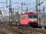 br-6155-ex-dr-250/122172/155-219-9-mit-flachwagen-am-210211 155 219-9 mit Flachwagen am 21.02.11 in Fulda