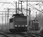 br-6155-ex-dr-250/125917/155-039-1-schlich-lz-durch-den 155 039-1 schlich LZ durch den Harburger Bahnhof am 26.2.