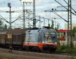 br-6182-es-64-u2-/148890/182516242516-rollte-mit-dem-scandfibre-papierzug 182.516/242.516 rollte mit dem Scandfibre Papierzug nach Dortmund durch den Harburger Bahnhof am 1.7.11.