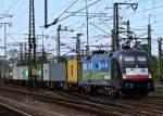 br-6182-es-64-u2-/149576/182-509-10-jahre-boxxpress-mit 182 509 '10 Jahre boxxpress' mit Containerzug am 12.07.11 in Fulda