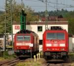 br-6185-traxx-f140-ac1-ac2/137079/diverse-185-waren-am-23411-in Diverse 185 waren am 23.4.11. in Singen/Htw abgestellt.