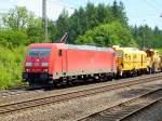 br-6185-traxx-f140-ac1-ac2/76187/185-373-8-mit-bauzug-am-100610 185 373-8 mit Bauzug am 10.06.10 in Jossa