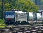 br-6189-es-64-f4-/94519/189-104-mit-gueterzug-am-110910 189 104 mit Güterzug am 11.09.10 in Gemünden am Main
