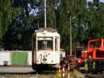 strassenbahn-dortmund/89416/ein-aufbautriebwagen-der-dortmunder-strassenbahn-steht Ein Aufbautriebwagen der Dortmunder Straßenbahn steht am 4. Juli 2010 am Mooskamp in Dortmund-Nette.
