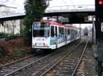 strassenbahn-dortmund/89636/ein-stadtbahnwagen-b-der-dortmunder-stadtwerke Ein Stadtbahnwagen B der Dortmunder Stadtwerke wird am 19. Dezember 2008 gleich in die Haltestelle 'Kohlgartenstraße' einfahren.