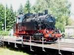das-suddeutsche-eisenbahnmuseum-heilbronn-seh/55736/br-80-014-zur-prasentation-auf BR 80 014 zur Prasentation auf der Drehscheibe.