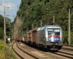 Eigene Bilder/158197/1116-250-polizei-tauri-rollte-mit 1116 250 'Polizei Tauri' rollte mit einem gemischten Güterzug durch Brixlegg.