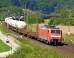 Bilder aus Harrbach/89465/189-018-5-mit-gueterzug-am-200810 189 018-5 mit Güterzug am 20.08.10 bei Harrbach