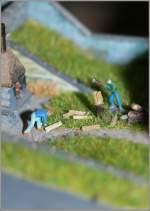 Die Bahn im Modell/115133/nochmals-die-holzhacker-diesmal-mit-einem Nochmals die Holzhacker, diesmal mit einem Makroobjektiv aufgenommen. 14.01.2011