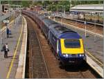 Ein First Great Western HST 125 erreicht Exeter St David.