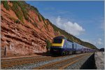 Ein Great Western Railway HST 125 zwischen Dawlish und Dawlish Warren. 19. April 2016