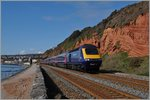 Ein Great Western Railway HST 125 zwischen Dawlish und Dawlish Warren.