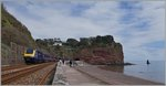Ein Great Western Railway HST 125 Class 43 zwischen Teignmouth und Dawlish.